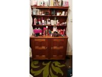 Diaplay Shelf with 2 cupboards.