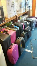 Many different Suitcases and Hand Luggages