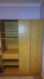 Wardrobe and shelf unit