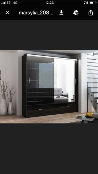 🎭🎭I'll lead you the way home🎭🎭MARSYLIA 2&3 SLIDING DOORS WARDROBE🎭🎭 FLAT PACKED DELIVERY🎭🎭 for sale  Islington, North London