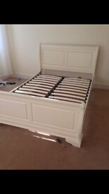 Shabby chic cream double bed for sale