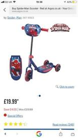 Spider-Man scooter red