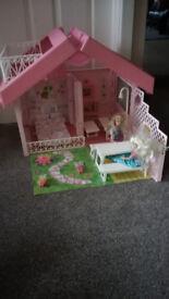 Foldable Barbie House.