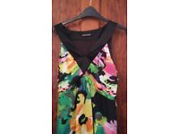 Multi coloured summer occasion dress with wrap from Planet