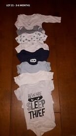 Lot 21 - Baby bundles - 3 for £10 - 3-6 months