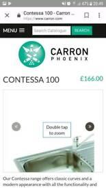 Carron phoenix contessa 100 kitchen sink