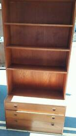 Solid Heavy Bookcase With Drawers Under