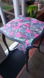 Vintage decoupaged table