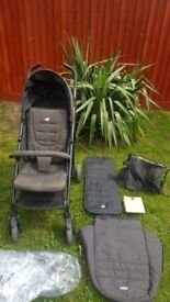 Joie Brisk Stroller suitable from birth up to 15 kg in very good condition + Babymel bag included