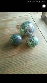 Set of 3 crackle balls