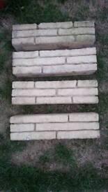 4 x garden wall decorative concrete