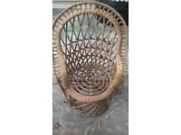 Large Whicker Dolls Chair