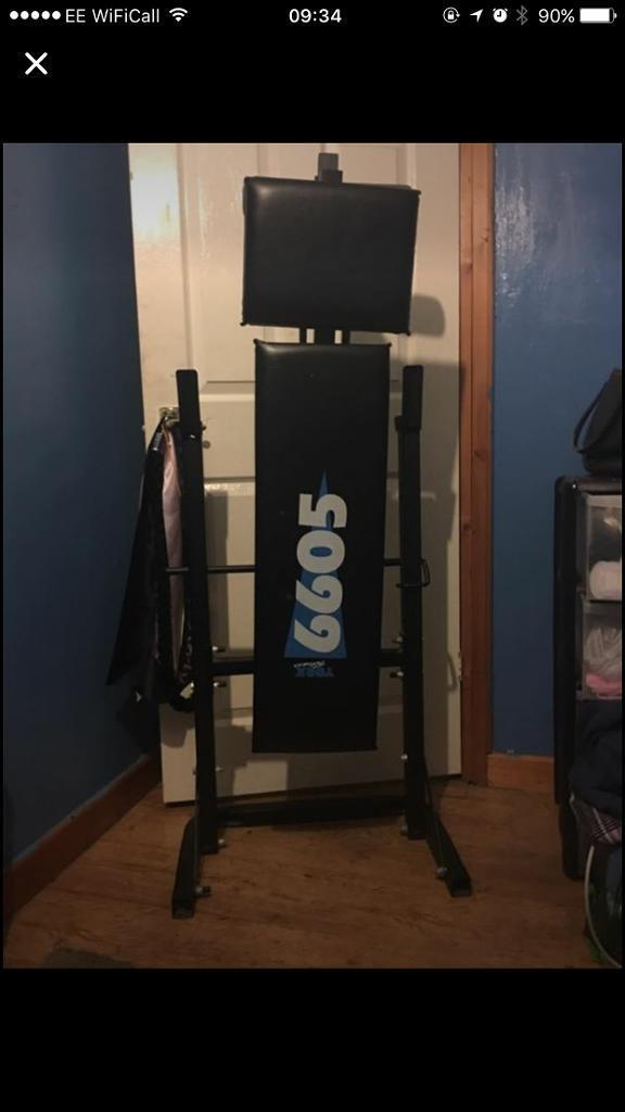York Fitness Weights Bench and Weights