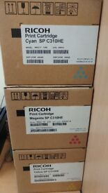 Ricoh SP C310HE BRAND NEW Set of Cyan, Magenta & Yellow Print Cartridges