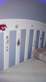 Children's bunk bed, white, used