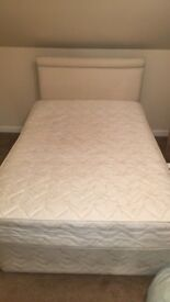 Small double bed (4ft) with mattress and headboard