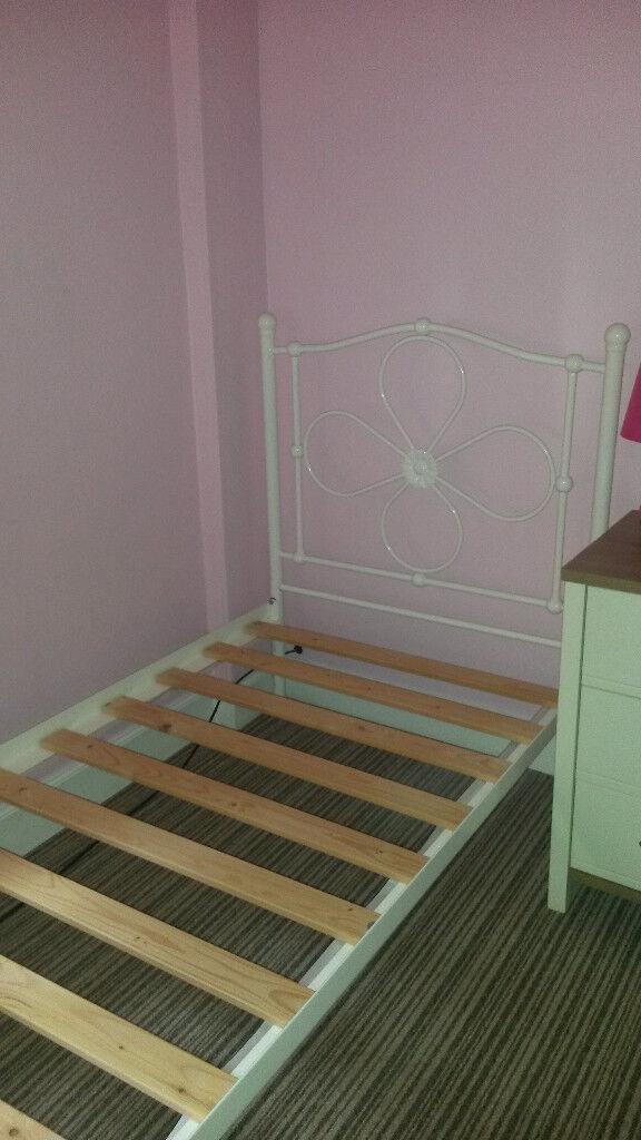 Girls single metal bed frame