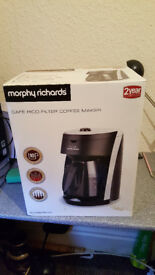 morphy richards filter coffee maker. Never used still in box. Excellent condtion