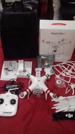 DJI Phantom 3 Standard + accessories, damaged gimbal motor