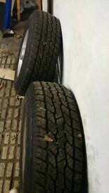 Two Maxxis 225/75R15 102s