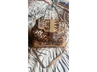 River island bag leopard print