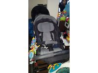 OBABY ABC ZOOM DOUBLE PUSHCHAIR WITH CARRYCOT