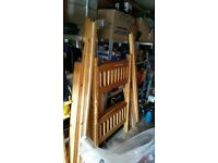 Solid pine bunk beds, excellent condition