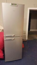 Bosch frost free fridge freezer half and half in silver digital display perfect working order