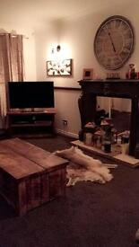 Bespoke rustic coffee table with draw