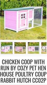 Chicken coop / rabbit hutch / In Pink! Unopened