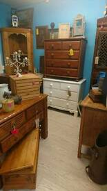Solid wood painted drawers