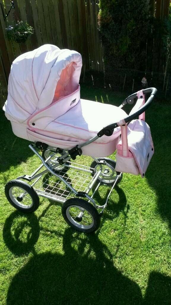 pink baby style lux collection pram
