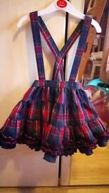Dungaree Tartan dress