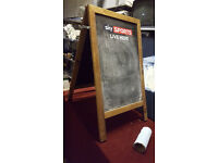 A1 Double Sided Advertising Chalk Board