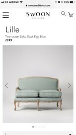 Swoon editions two seater lilac sofa £250
