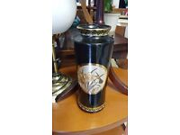 Small Black Stylish Floral Vase in Good Condition