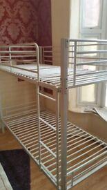 metallic bunk bed. 07341943070