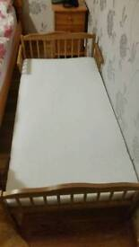 Junior bed with matress for sale