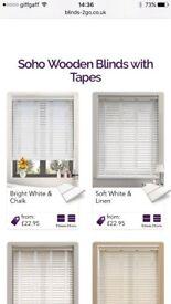 Soft white wooden blind