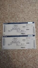 2 Kasabian tickets for the 24th at 6pm