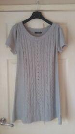 New Ladies Womens Grey Jumper Dress size 10/12 S/M
