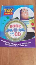Toy story book and CD collection.