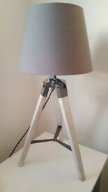 Stunning Grey Tripod Lamps