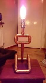 Retro copper pipe lamp