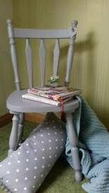 Hand Painted Vintage Style Chair