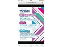 Wireless festival tickets- Friday 7th July - x2 tickets