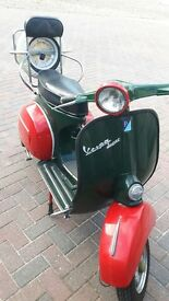 Classic original 1966 Vespa Douglas 125 super scooter, MOT till March 2018, Restored.