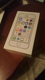 Apple warranty 1 year. Brand new boxed up SEALED iPhone 5S 16GB Silver/White Vodafone