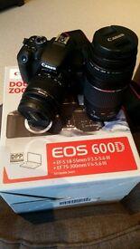 * Canon 600D DSLR Double zoom Camera Bundle *