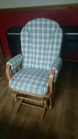 Nursing, gliding, rocking chair